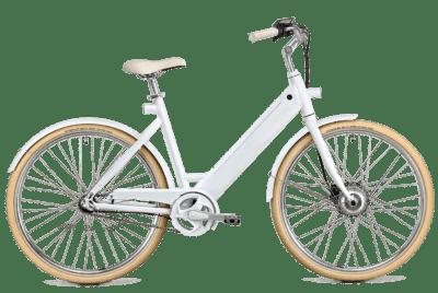 Hvid elcykel Women bike Stroem
