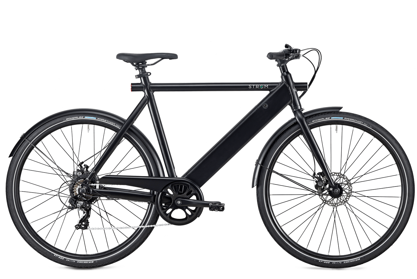 Sort elcykel City ebike
