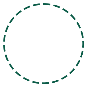 Green dotted circle