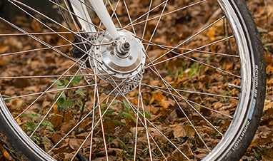 Detail tire city bike